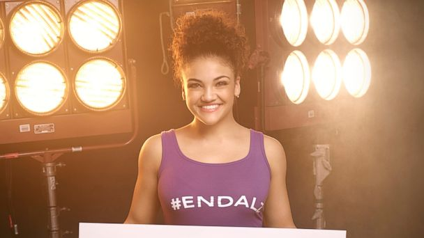 PHOTO: Olympic gold medalist Laurie Hernandez is working to raise awareness for Alzheimer's, in honor of her late grandmother who succumbed to the disease last year.