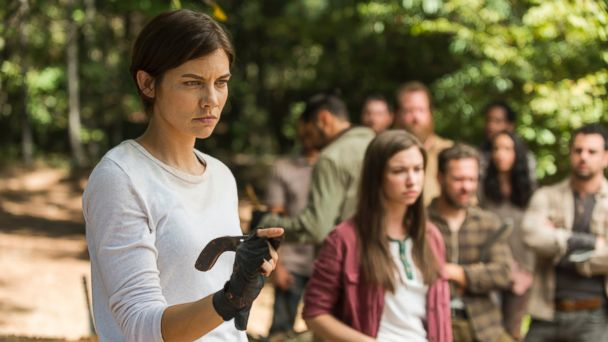 PHOTO: Lauren Cohan as Maggie and Katelyn Nacon as Enid on