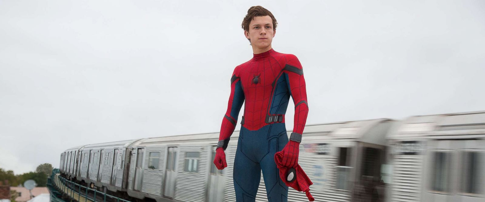 "PHOTO: Tom Holland stars in ""Spider-Man: Homecoming."""