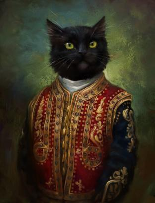 Cats Dressed in Royal Attire