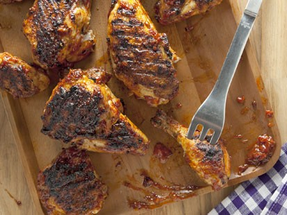 Katie Workman's barbecued chicken recipe is shown here.