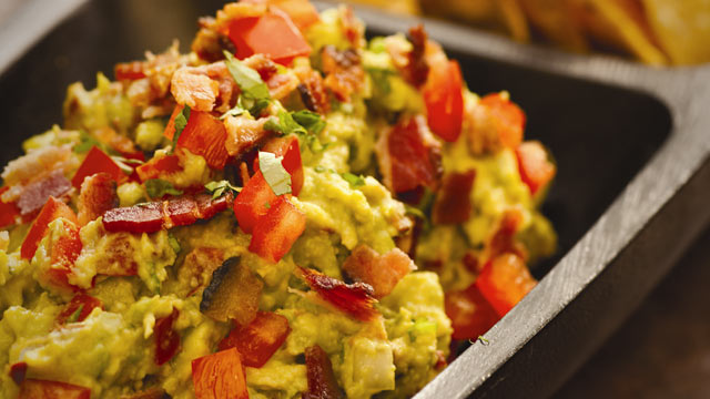 PHOTO: Rick Bayless' bacon and tomato guacamole.