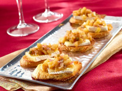 "PHOTO: Brie and Chutney Toast a la Paris, inspired by ""Midnight in Paris"" and created by Katie Lee on behalf of I Cant Believe Its Not Butter!"