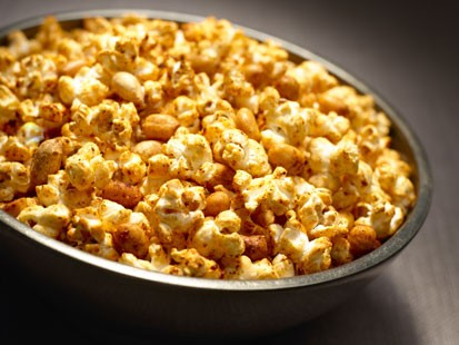 "PHOTO: Chili Parmesan and Peanut Popcorn, inspired by ""Moneyball"" and created by Katie Lee on behalf of I Cant Believe Its Not Butter!"