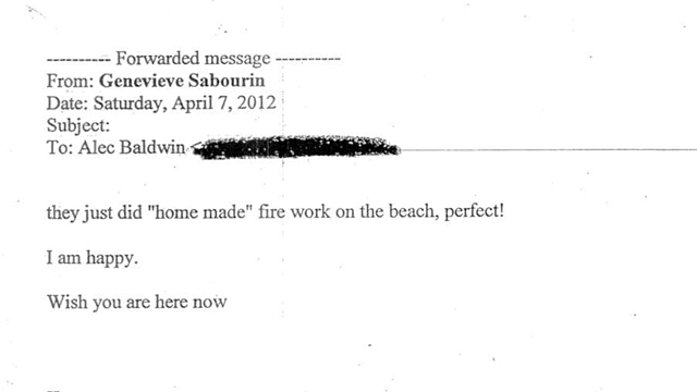 ht Genevieve Sabourin email 41 ll 131112 wmain See the Emails From Alec Baldwins Alleged Stalker
