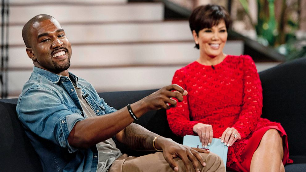 "PHOTO: Kris Jenner interviews Kanye West for on talk show, ""Kris."" The interview airs on August 23, 2013 on FOX."