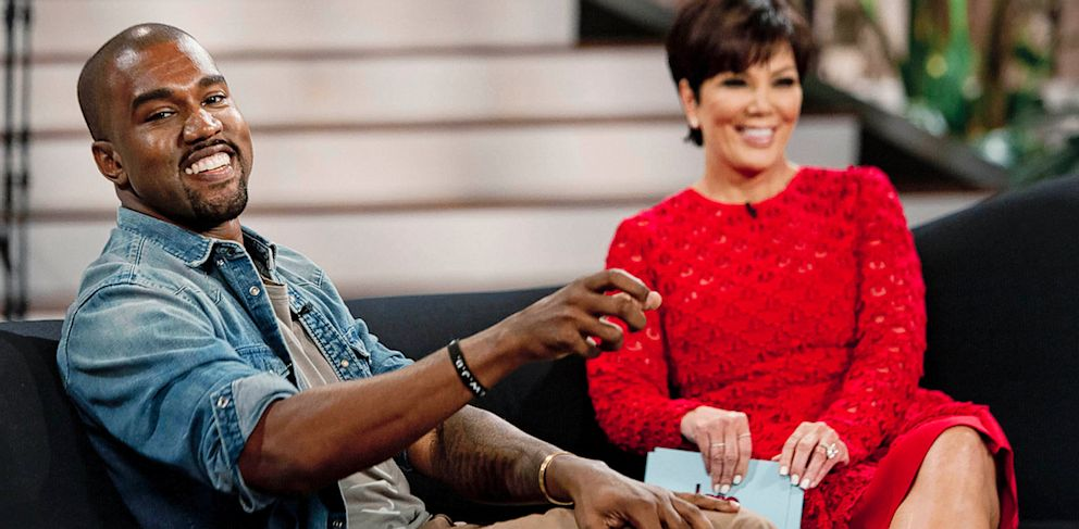 """PHOTO: Kris Jenner interviews Kanye West for on talk show, """"Kris."""" The interview airs on August 23, 2013 on FOX."""