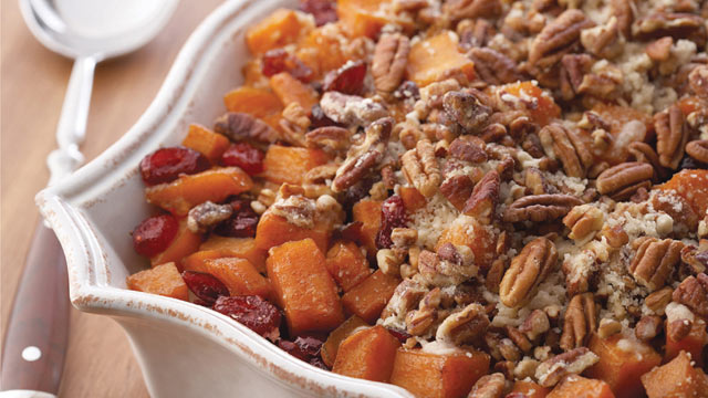PHOTO: McCormick's sweet potatoes with cinnamon pecan crunch are shown here.