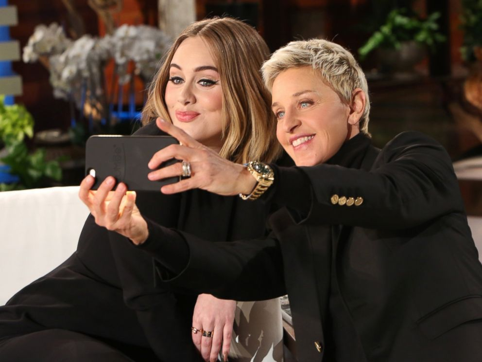 PHOTO: Adele appears with Ellen DeGeneres on The Ellen DeGeneres Show, Feb. 18, 2016.