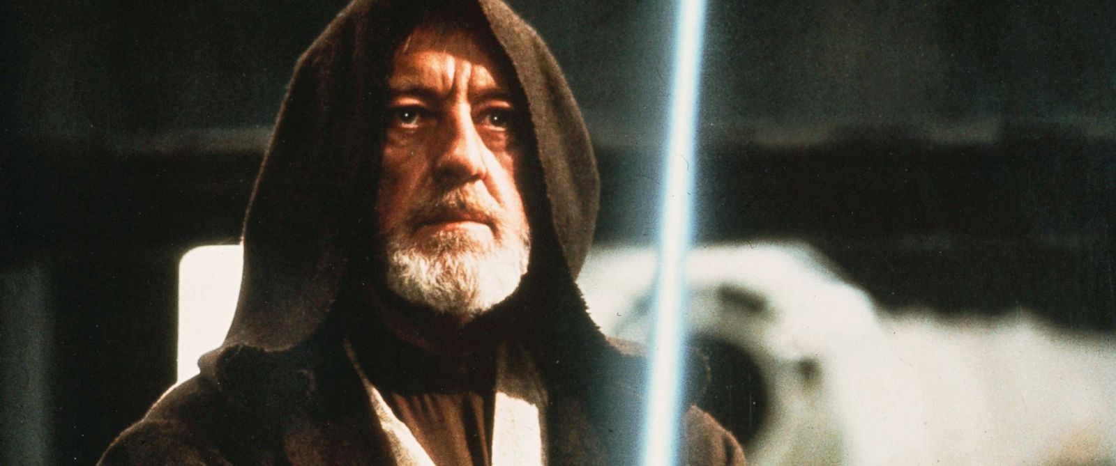 "PHOTO: Obi Wan Kenobi, portrayed by Alec Guinness, is seen in a scene from ""Star Wars IV: A New Hope."""