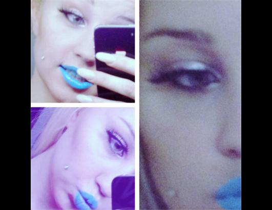 Bynes With Blue Lips