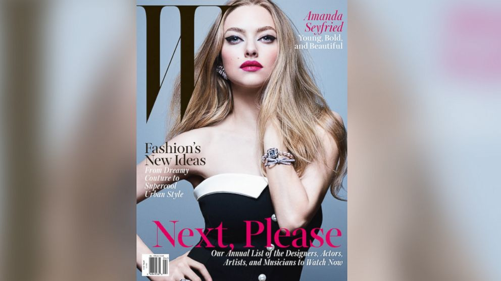PHOTO: Amanda Seyfried appears on the April 2014 cover of W Magazine.