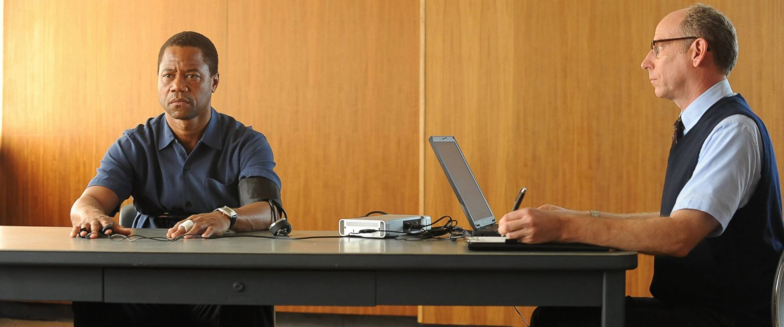 "PHOTO: Cuba Gooding, Jr. and Joseph Buttler appear in ""The People v O.J. Simpson: American Crime Story,"" airing on Feb. 2, 2016."