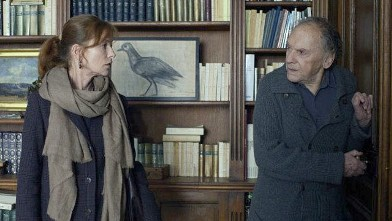 "PHOTO: Screen still of Isabelle Huppert and Jean-Louis Trintignant in ""Amour."""