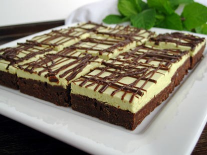 Chef Amy Green's chocolate mint brownies are shown here.