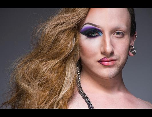 Portraits of Drag Queens in Half Drag