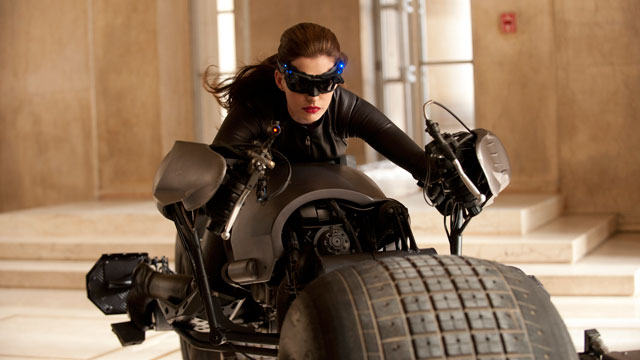 "PHOTO: Anne Hathaway portrays Catwoman in a scene from ""The Dark Knight"