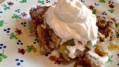 PHOTO: Karen Pickus' apple crisp is shown here.