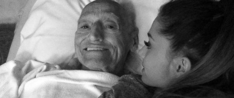 """PHOTO: Singer Ariana Grande is seen with her grandfather in an undated photo posted to her Twitter and Instagram accounts on July 23, 2014 with the text, """"I love you."""""""