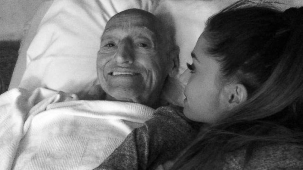 "PHOTO: Singer Ariana Grande is seen with her grandfather in an undated photo posted to her Twitter and Instagram accounts on July 23, 2014 with the text, ""I love you."""