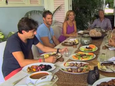 PHOTO: A sneak peek at The Bachelor, where Clare meets Juan Pablos family.