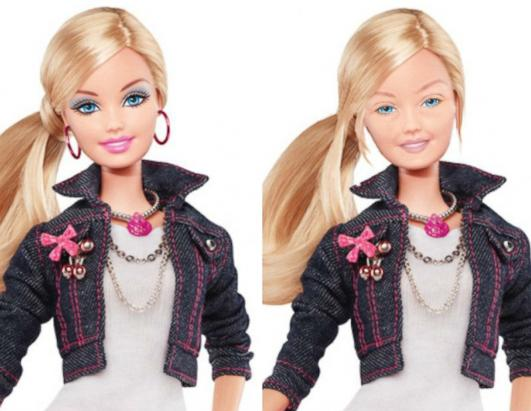 See Barbie Without Makeup