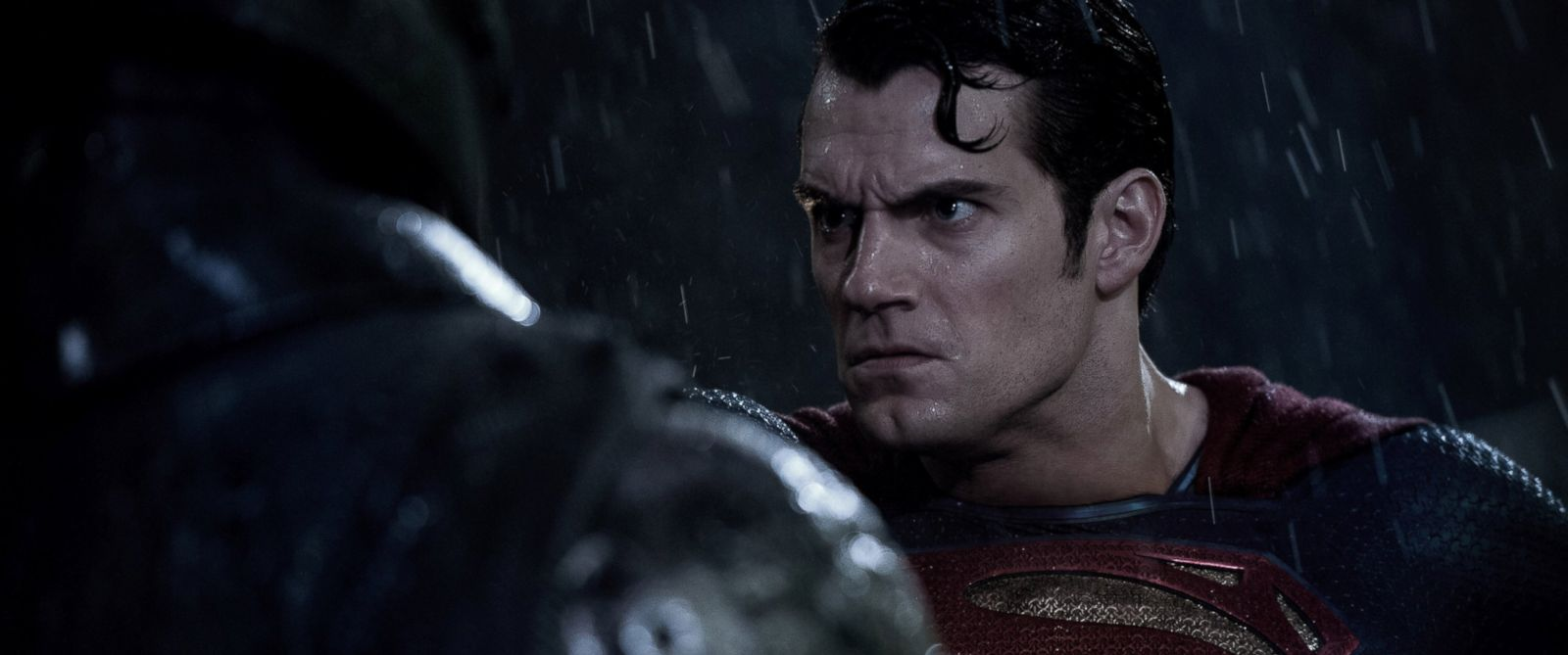 "PHOTO: Henry Cavill and Ben Affleck star in ""Batman v Superman: Dawn of Justice."""