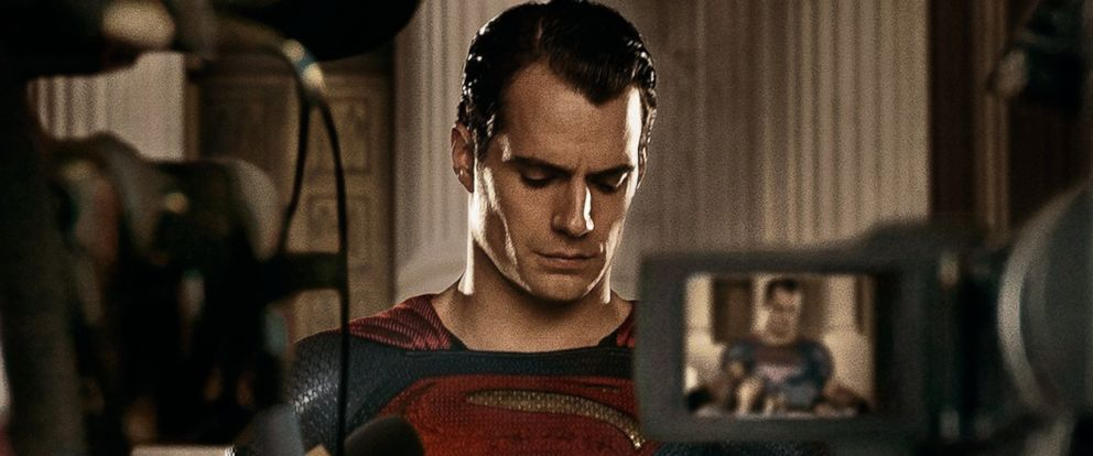 "PHOTO: Henry Cavill is seen as Superman in a promotional image from ""Batman v Superman: Dawn of Justice"" released via Twitter on Feb. 24, 2016."
