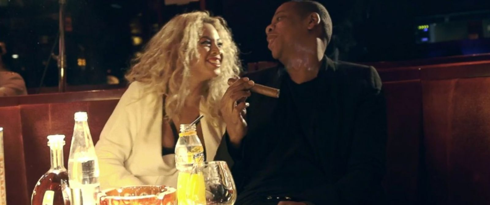 PHOTO: Beyonce and Jay Z appear in a video posted on Beyonces blog.