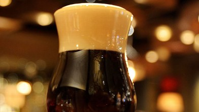 PHOTO: The black velvet beer cocktail is shown here.