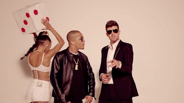 ht blurred lines mi 130805 16x9 608 Feed Frenzy: Robin, Macklemore, Miley    Who Has the Song of the Summer?