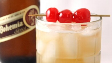 PHOTO: Bohemia's old-fashioned beer cocktail is shown here.