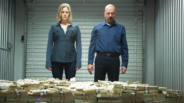 PHOTO: Skyler White and Walter White in a scene from Breaking Bad Season 5.