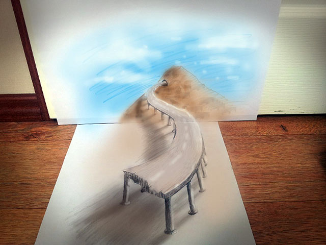 ht bridge jef 130620 vblog 3 D Pencil Sketches Leap Off the Page