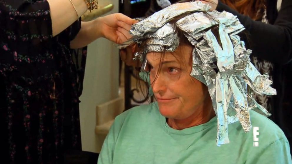 "PHOTO: Bruce Jenner is seen getting highlights in this video grab made from a preview of the next season of ""Keeping Up With the Kardashians."""