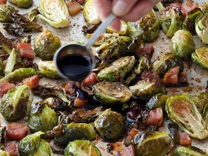 PHOTO: Ina Gartens balsamic-roasted Brussels sprouts are shown here.