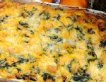 PHOTO: Emerils spinach, ham and cheese breakfast casserole.