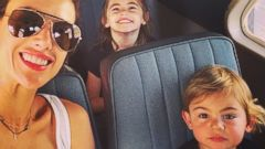 Alessandra Ambrosio Takes Her Kids on Vacation