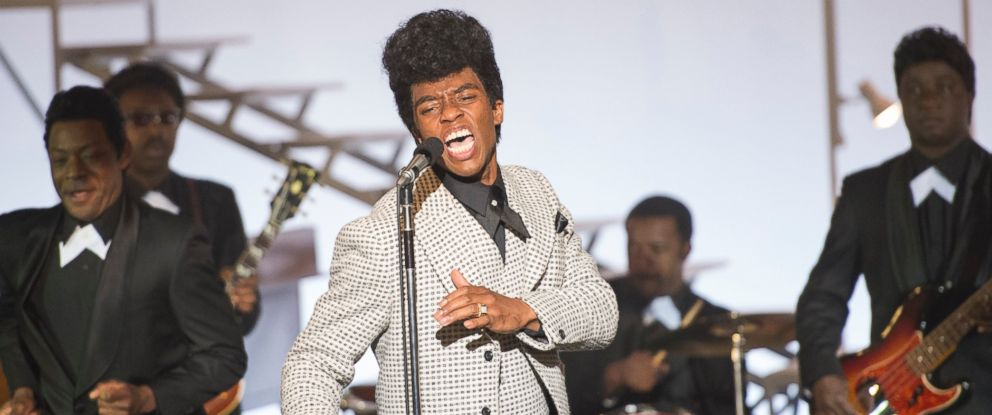 """PHOTO: Chadwick Boseman performs as James Brown in the film """"Get on Up."""""""