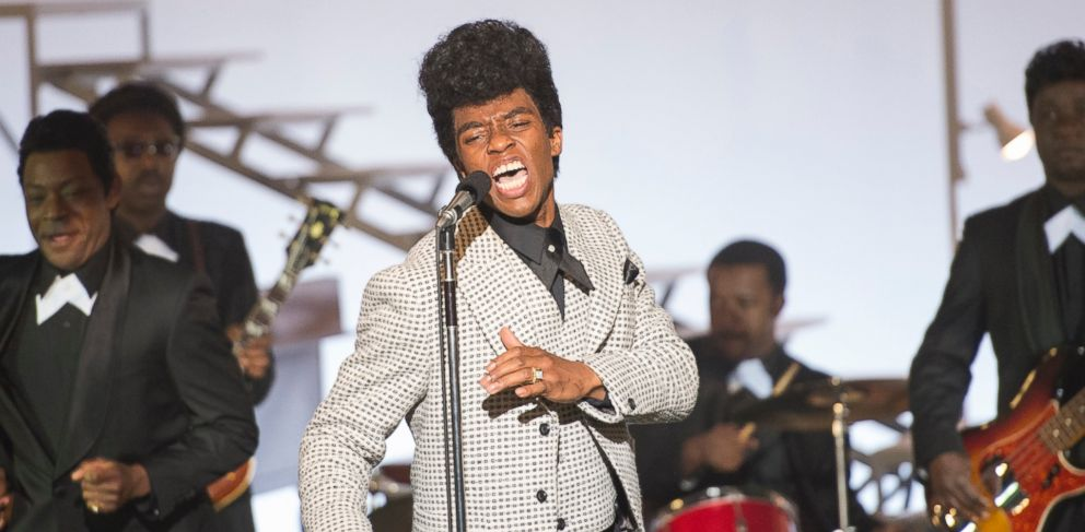 PHOTO: Chadwick Boseman performs as James Brown in the film Get on Up.