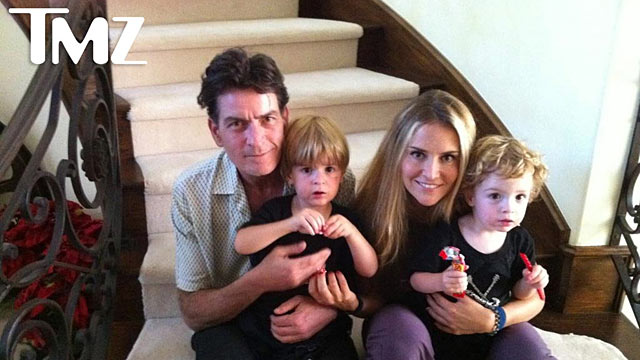 PHOTO: Charlie Sheen, Brooke Mueller and their children.