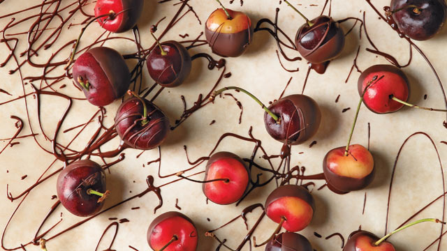 PHOTO: Chef Alice Medrich's chocolate dipped fruit is shown here.