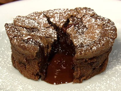 Carla Hall's chocolate lava cake is shown here.