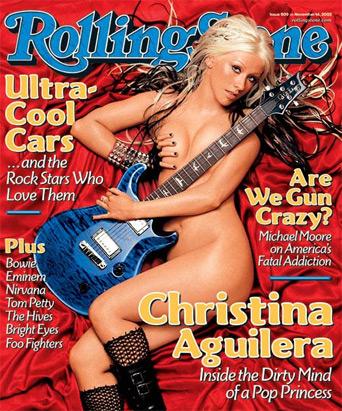 christina aguilera rolling stones
