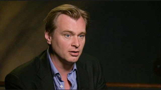 PHOTO: Christopher Nolan, the director of the blockbuster &quot;Dark Knight&quot; film franchise, talks about his up-and-coming &quot;The Dark Knight Rises.&quot;