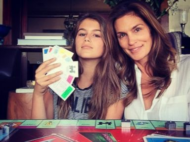 PHOTO: Cindy Crawford posted this photo on Instagram with this caption: kaiajordan just destroyed me in #monopoly. #oldschoolfun, Oct. 22, 2014.