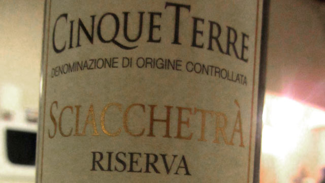 PHOTO: The dessert wine, Sciacchetra, is made in Cinque Terre from naturally-dried grapes and is rarely found outside of the five towns.