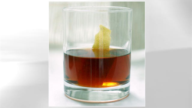 PHOTO: The Cognac Sazerac cocktail is shown here.