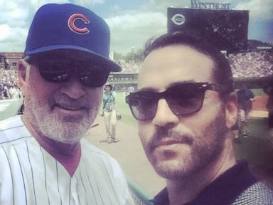 PHOTO: Jeremy Piven posted this to his Twitter account with the caption, Its happening !!! No more next year baby, meet you in Chicago... Cubs are going to the World Series !!!, Oct. 22, 2016.