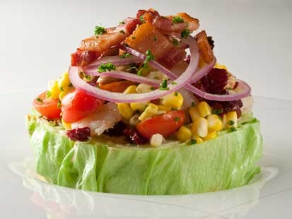 PHOTO: David Burkes wedge salad is shown here.